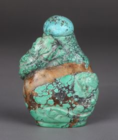 19th Century Chinese turquoise snuff bottle.