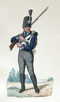 Prussian Landwehr by Friedrich Neumann Ausländer-Bataillon, Elb-Infanterie-Regiment