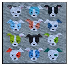 Welcome to week 2 in the Dog Gone Cute quilt along blog hop! Today I will be sharing the instructions for piecing Block 1 & Block 2.  Keep u...