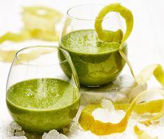 Grön smoothie med havre, äpple och spenat | Recept ICA.se Brunch Recipes, New Recipes, Healthy Snacks, Healthy Eating, Munnar, Body Detox, Food And Drink, Lime, Apple