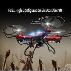 2016 Ultralight F181 Drone Dron Quadrocopter 4GB RC Quadcopter Nano WIFI Drone with Camera 720P FPV 6AXIS Mini Drone Hot Sale.68,40