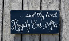 Wedding Sign, Rustic Wedding Chalkboard Decor They Lived Happily Ever After Ceremony Reception Photo Ideas Bride Groom Mr Mrs Newlyweds Gift - The Sign Shoppe