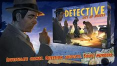 Porfirio sammelt Geld für Detective: City of Angels auf Kickstarter! Detective: City of Angels is a board game where detectives solve mysteries in the dark and violent world of Los Angeles. Tabletop Board Games, City Of Angels, Investigations, Detective, The Darkest, Crime, Mystery, Projects, Fictional Characters