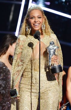 Beyonce accepts an award onstage during the MTV Video Music Awards at Madison Square Garden New York City New York 28th August 2016