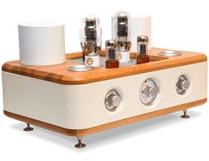 The Adagio Vacuum Tube Integrated Hi-Fi Amplifier from Auris Audio in Serbia. This is beyond gorgeous and I'm guessing it sounds as good as it looks.