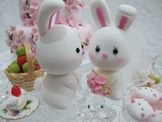 lovely rabbits cake topper by kikuike, via Flickr