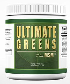 Ultimate Greens MSM Powder All Natural Vegan Alkalize Body PH Energy Vegetable Organic Supplements, Nutritional Supplements, Organic Greens Powder, Green Powder, Vegetable Drinks, Greens Recipe, Vitamins And Minerals, Vegan Friendly