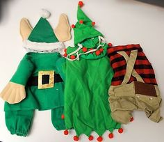 Dog Clothes Costume Lot Rubie's Pet Shop Christmas Elf Hipster Lumberjack Size S