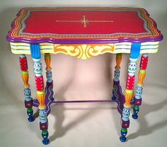 Hand Painted Furniture- Side Table or Accent Table  side tables and accent tables