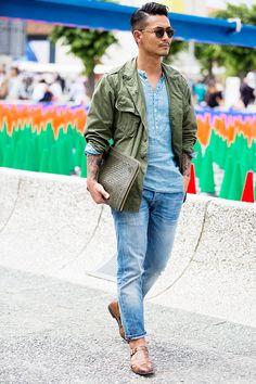 Street looks au Pitti Uomo printemps-été 2016 à Florence | Vogue