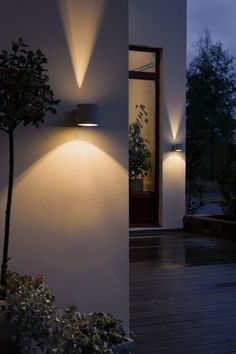 Up down external light for front of house architecture Fixture exterieur led