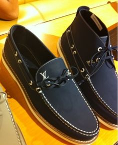 cant have a summer without a good pair of boat shoes... vuitton boat shoes + boat shoe high tops