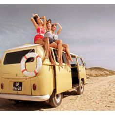 Old School punch buggy and beach babes