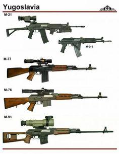 Югославия: M-21, M-77, M-76, M-91