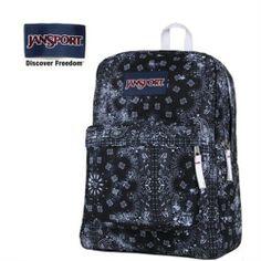 JanSport Black Banadana Prints Backpack - Jansport backpack-Campaign Categories - TopBuy.com.au