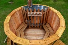 Wood burning hot tub deluxe model (1)