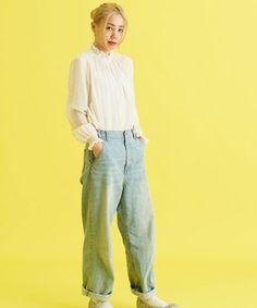 AMBIDEX Store 80Sコットンシフォン レース付シャーリング長袖ブラウス(F ピンク): Dot and Stripes CHILD WOMAN