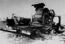 In order to remove the evidence of the crimes of the Einsatzgruppen (Nazi mobile killing units) special units called Sonderkommandos were activated. They exhumed and cremated the corpses. Prisoners, mainly Jews, were ordered to undertake this gruesome task. The bodies were stacked and set alight. Workers then used bone crushing machines (pictured) or hammers to destroy all that remained and scattered or buried the ashes. After the task was completed, the workers were executed.
