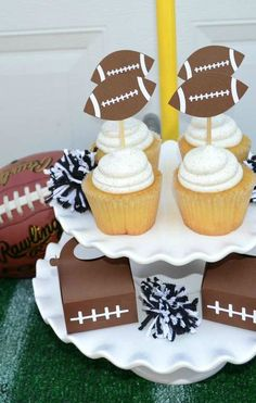 Fun Football Party Ideas! See more party planning ideas at CatchMyParty.com!