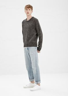 Acne Studios Chet Don Sweater (Grey Mix)