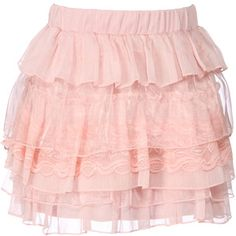 pretty ruffled lacey pink skirt