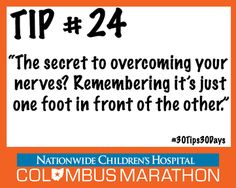 Tip #24: How to Conquer Your Pre-RaceJitters. #30Tips30Days