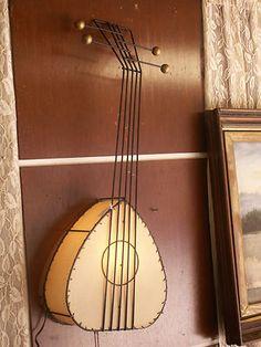 Vtg. Mid-Century FREDERICK WEINBERG Guitar Wall Lamp