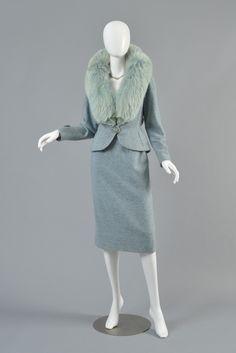 Wool and fox fur suit, Kipness Originals, 1950's.