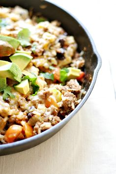 mexican skillet dinner. Sub spices for taco seasoning packet