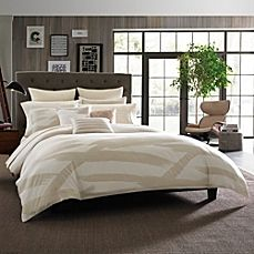 image of Kenneth Cole Reaction Home Brushstroke Twin Comforter in Ivory