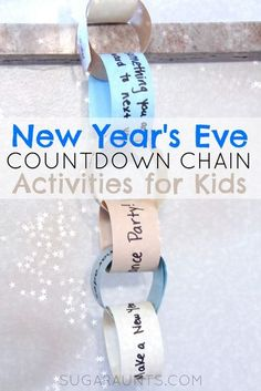 New Years Eve Countdown Activity chain for kids.