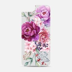 Purple Peony Watercolor Floral Bouquet Backplate