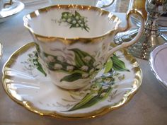 Vintage Adderley Lily of the Valley Teacup and by FarazFanciful