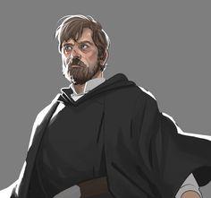Luke Skywalker - The Last Jedi Star Wars Jedi, Star Wars Art, Star Trek, Saga, Star Wars Drawings, Star Wars Images, Mark Hamill, Fan Art, Last Jedi