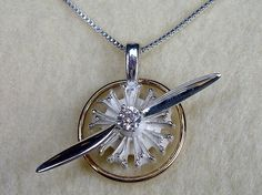 Radial Engine Sterling Silver set with Spinning by AviationJewelry, $100.00