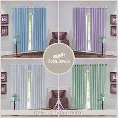 Quem disse que não vai ter uma cortina com a sua cor preferida? Temos muuuuuitas opções.