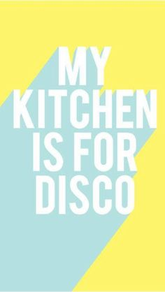 I have this hanging in my kitchen!!!! Along with mini disco balls.... It's the right thing to do!