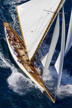 Sailing a classic yacht. Classic Sailing, Classic Yachts, Yacht Design, Yacht Boat, Sail Away, Set Sail, Wooden Boats, Tall Ships, Yachts