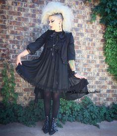 The gothic look!!  Deess Code: NL-166 ➡www.devilinspired.com #devilinspired #devilinspiredofficial #lolitafashion #lolita #gothiclolita #makeup