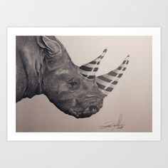 Candy Rhino Art Print by Tom Karlsen - $22.48