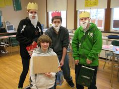Mr. Griffith's 8th grade Spanish classes celebrated a traditional Spanish Christma