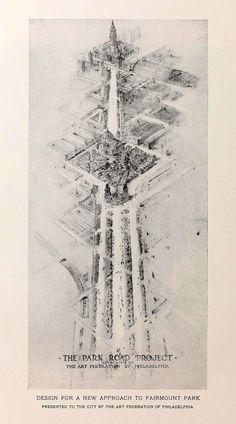 Design for a new approach to Fairmount Park, Philadelphia