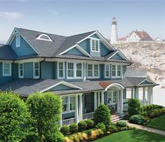 Roofing. Shingles. GAF Timberline Ultra HD Pewter Gray House
