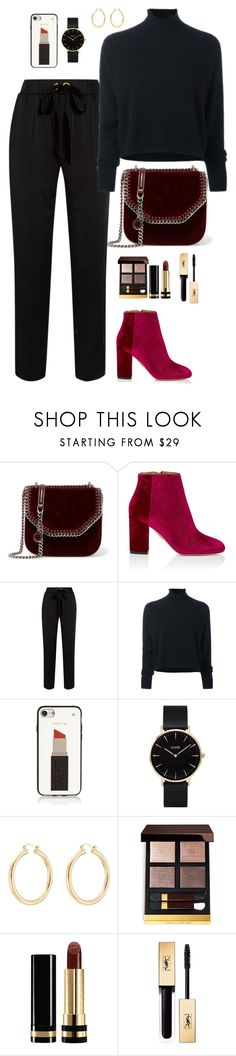 """""""Smooth like velvet"""" by chase-stars ❤ liked on Polyvore featuring STELLA McCARTNEY, Aquazzura, Mother of Pearl, Le Kasha, Kate Spade, CLUSE, Isabel Marant, Tom Ford and Gucci"""