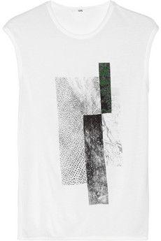 Helmut Lang Printed jersey T-shirt   NET-A-PORTER