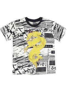 Camiseta Infantil Masculina Em Algodão Que Brilha No Escuro