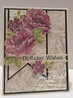 Stippled Blossoms   Stamping With Class   Janice Urke   Independent Stampin' Up! Demonstrator
