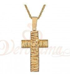 Σταυρός ανδρικός χρυσός Κ14 ST_136 Symbols, Glyphs, Icons