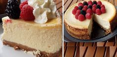 Crustless Cheesecake Recipe - rich and creamy, the perfect after dinner touch. The best cheesecake recipe! Crustless Cheesecake Recipe, Sweet Potato Cheesecake, Best Cheesecake, Easy Cheesecake Recipes, Cheesecake Factory New York Cheesecake Recipe, Diabetic Cheesecake, Baklava Cheesecake, Ricotta Cheesecake, Japanese Cheesecake
