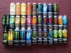 Monster Energy Drink Collection 4 by on deviantART<<<I hate energy drinks, but this is just so pretty. Monster Energy Drinks, Monster Energy Gear, Monster Energy Girls, Love Monster, Bebidas Energéticas Monster, Monster Crafts, Les Winx, Aesthetic Indie, Indie Kids